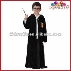 Kids' Wizard Costume With Magical Cloak And Glasses