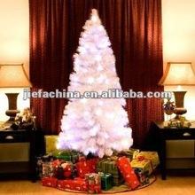 Fiber optic christmas tree white