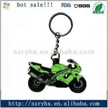 Soft PVC motorcycle shape keychain