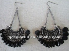 fashion vintage alloy acrylic earring dance costume