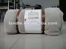 100 pct polyester luxtory Auchan coral fleece blanket