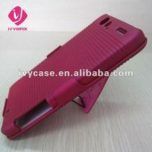 for Motorola Droid RAZR XT910/XT912 Red Slim Rubberized Holster Combo Hard Shell Case Snap on Cover