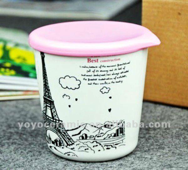 ceramic travel mug with lid city mug Paris Tower