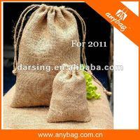 New style promotional jute drawstring bag
