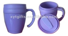 470ml double wall coffee cup with handle