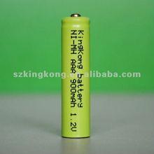 1.2V AAA 900mAh Ni-MH rechargeable battery