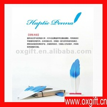 Feather quill pen with logo imprint