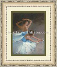 Handmade dancing girl painting