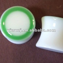 2012 New style hot selling green color double flare ear plugs