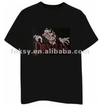 Skull fancy design led light t-shirt