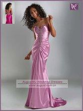 AEB0420 Modest Sweetheart Beaded Satin Open Back Long Evening Dresses