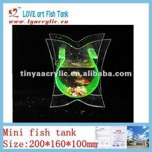 Hot sale indoor plastic acrylic aquarium fish tank