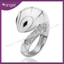 2012 fashion Snake design white gold ring