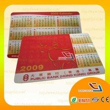 Excellent Quality Custom Printed PVC Calendar Card