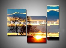 Sunset scenery picture on canvas oil painting