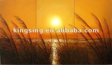canvas oil painting of sunset picture