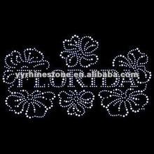 Florida - Floral Rhinestone Hotfix Design Motif
