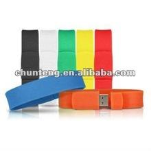 Fashion bracelet bulk 1gb usb flash drives