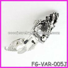 2012 yiwu spike rhinestone skull gothic ring