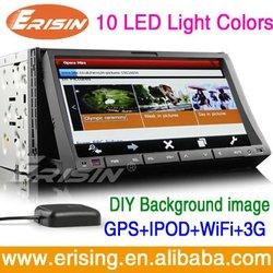 iPone4 control Car DVD Player 7 inch WiFi 3G 2 din universal