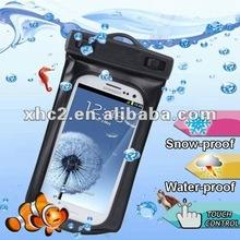 WP-160C Black Waterproof Bag with Armband & 3.5mm Waterproof Headphone Jack for Samsung Galaxy