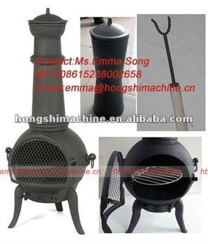 Cast iron wood burning stove,Chiminea Outdoor garden Fireplace,wood fireplace