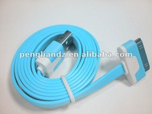 2012 High quality Flat Colorful USB Cable for iPod/iPhone
