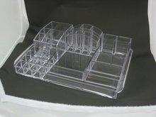 Large cosmetic transparent plastic case