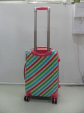 ABS+PC 3 pcs set eminent zipper rotary kids aircraft airplane wheel carry on travel trolley drawbar kids women bag