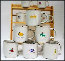 cute constellation kids porcelain enamel cup