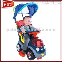 Plastic ride on car baby push car stroller