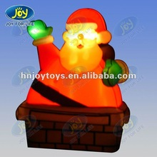 2012 cute inflatable santa with light