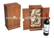 Handcrafted wooden wine box storage