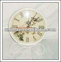 Antique metal desk clock