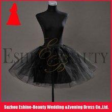 Hot sale black organza short dress petticoat
