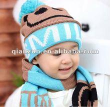 100% acrylic children's warm crochet knit earflap winter hat