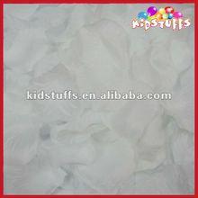 Pure White Confetti With Silk Rose Petals