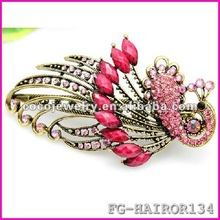 Bow pearl pendant side hairpin Korean hair accessories wholesale2012 New Retro cute satin