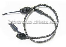 2012 promotion zipper Lanyard for key/phone
