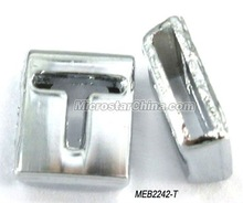 "8mm Cheapest ""T"" alphabet slider charms for bracelet"