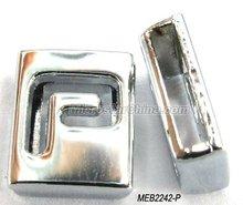 Slide metal alphabet beads for charm bracelet