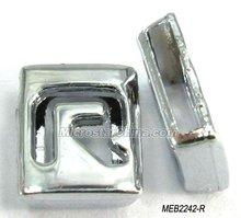 8mm DIY slide metal alphabet beads for jewelry bracelet