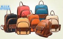 Special offer 2012 new college wind PU skin double shoulder pack backpack students lady's bag bag ba