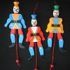 the clown king wood string doll for children
