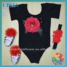 2012 Fashion style baby romper with shoes and headbands Cotton baby rompers
