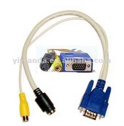 high quality vga cable,vga to rca splitter cable