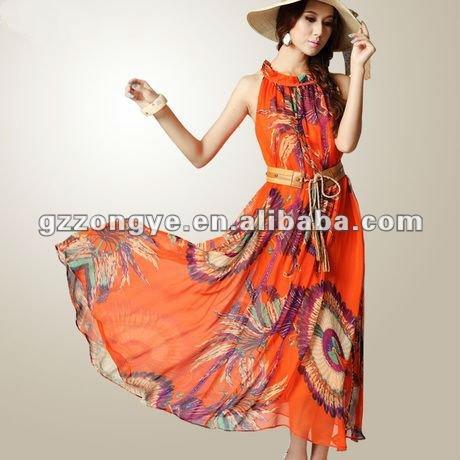 Chiffon Maxi Dress on Chiffon Print Fashion Long Sleeve Casual Maxi Dress 2013 Bohemia  View