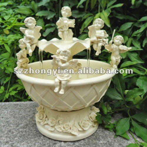 anao de jardim resumo:Resina anjo fonte decoração / fontes de água decorativas