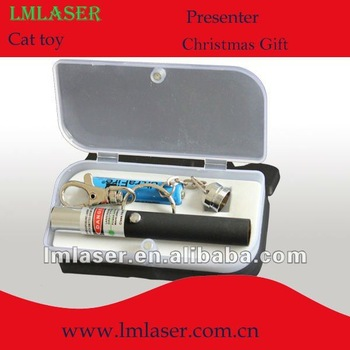532nm 5mw green laser pointer pen with KeyChain for christmas gift