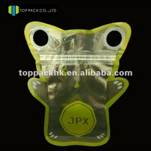 Custom double ziplock&Special shape packing bag/resealable packaging bag for dry fruit/Three side seal